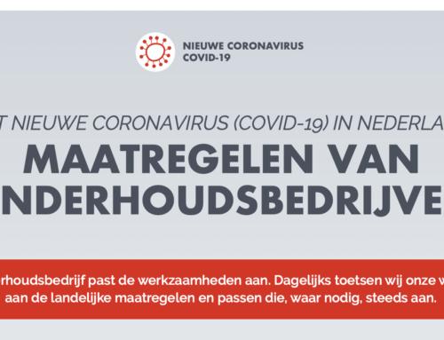 Corona maatregelen van onderhoudsbedrijven